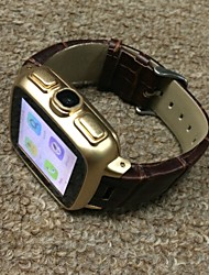W05 Wearable Android Watch Phone, 5.0M Camera/3G WCDMA/Wifi/BT4.0/Google Play/ Stainless Steel Geniune Leather Strap
