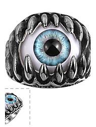 Ringe Halloween / Alltag / Normal / Sport Schmuck Edelstahl Herren Ring 1 Stück,8 / 9 / 11 Silber
