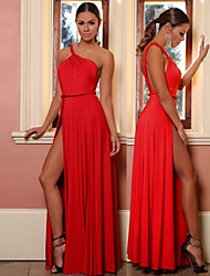 Women's Off-the-shoulder Backless Dresses , Polyester Sexy/Party Sleeveless Vefate