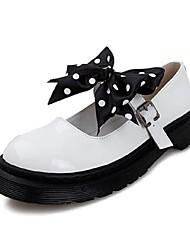Women's Shoes Flat Heel Round Toe Flats Casual Black/White