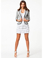 W.W.W  Women's Shirt Collar Coats & Jackets , Cotton Casual/Work Long Sleeve