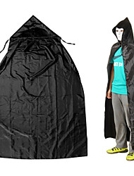 Adult Cosplay Halloween Masquerade Costumes Death Sorcerer Vampires Cloak with Hood - Black