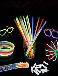 100 Pcs The Concert Will Cheer Props Fluorescence Stick(Colors Random)