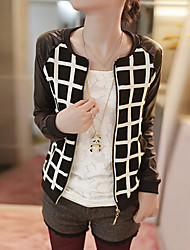 Women's Round neck long sleeve short coat cardigan jacket