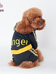 Cat / Dog Hoodie / Clothes/Jumpsuit Black / Pink Dog Clothes Winter / Spring/Fall Letter & Number Fashion / Sports