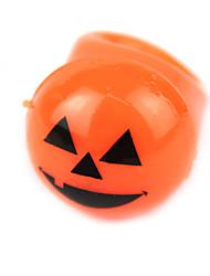 Halloween Pumpkin sourire anneau de silicone de style conduit de lumière