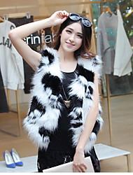 Fur Coats Boleros Sleeveless Faux Fur White