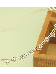South Korea Imported Hairpin Rhinestone Beaded Head Hoop Decorations Small Crystal Hair Band Edge Type