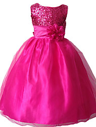 2015 Children Girls Evening Dress School Party Dress Formal Dress Evening Wedding Party Dresses Full Dress
