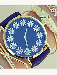 Ladies Lovely Floral Watch,Floral Pattern,Ladies Watch,Analog,Students Flower Watch Wristwatch Cool Watches Unique Watches