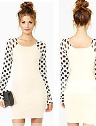 Women's Dresses , Cotton/Mesh Sexy/Casual/Work Long Sleeve K.M.S