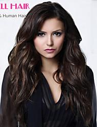 Brasileño del cordón del pelo del pelo humano pelucas 8-24inch brasileño onda natural sin cola peluca llena del cordón para las mujeres
