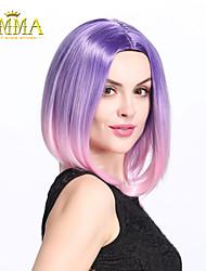 Purple/Pink Ombre Wig, Fashion Gradual Colors & Heat Resistant Wig Cheap Wig Party Wig