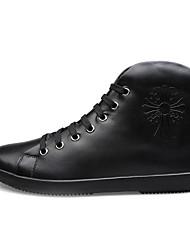 Zapatos de Hombre Casual Cuero Sneakers a la Moda Negro/Azul