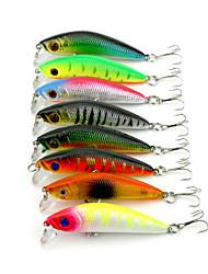 """8pcs pcs kleiner Fisch / Angelköder kleiner Fisch Grün / Orange / Rosa / Gelb / Hellgrün / Silber / Rot 8.1g g/5/16 Unze,70mm mm/2-3/4"""""""