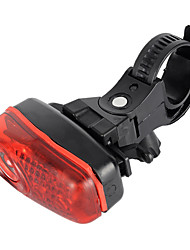 New Bicycle Bike 2-Mode 3-LED Red Light Tail Warning Safety Light - Red + White