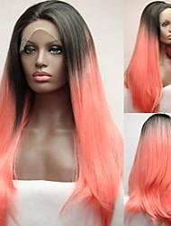 Горячая продажа фронта шнурка высокого Tempreture волокна парики на продажу афроамериканец парики парики Эмма Ombre парик
