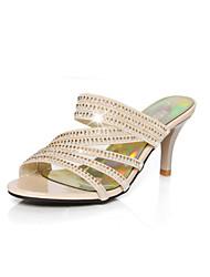 Women's Shoes  Stiletto Heel Open Toe Sandals Office & Career/Dress Black/Gold