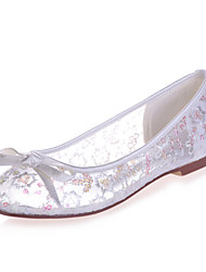 Women's Shoes  Flat Heel Round Toe Flats Wedding/Party & Evening Black/Blue/Pink/Red/Ivory/White/Gold