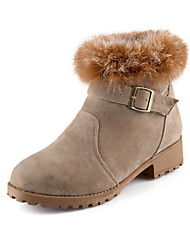 Women's Boots Spring / Fall / Winter Fur / Fleece Office & Career / Dress / Casual Platform Buckle / Fur / Zipper