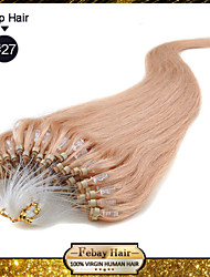"""20"""" Strawberry Blonde(#27) 100S Micro Loop Remy Human Hair Extensions"""