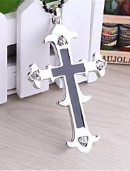 Women's Fashion Jewelry Casual Alloy Cosplay Punk Holy Cross Pendant Necklace