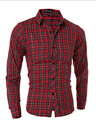 Men's Casual Shirts , Cotton Long Sleeve Casual YYZ