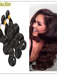 3pcs / lot vierges de 3pcs de forme de corps de cheveux brésiliens extensions de cheveux beaucoup à bas prix des cheveux remy tisse