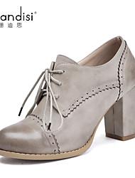 Women's Shoes Chunky Heel Heels Pumps/Heels Casual White/Gray