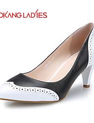Aokang Women's Shoes  Leather Stiletto Heel Heels/Comfort/Pointed Toe/Closed Toe Pumps/HeelsWedding/Outdoor