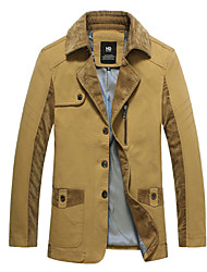 2015 Brand New Men Jackets Asian Size Pure Khaki Color Formal Fashion Men Clothing 113-1 8818 SP001592