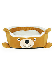 Animal Cute Bear Design Beds with Cushion for Small Pets Dogs Cats