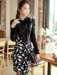 Pink Doll®Women's Casual/Party/Bodycon Print OL High Waist Skirts