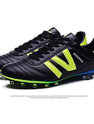 Zapatos Fútbol Semicuero Negro / Azul / Rojo Hombre