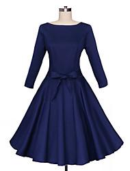 Women's Vintage Party Dress (Cotton Blends)