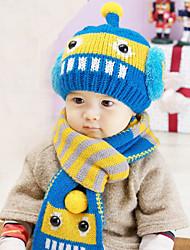 Unisex 0 to 3 Years Old Children's Winter Stretchy Cap Cute Winter Cotton/Lycra Ski Hat