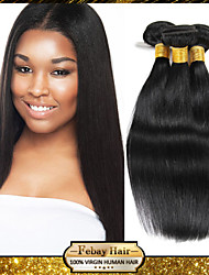 Indian Virgin Straight Hair Weaving Natural Black 8-30 inch 1pc/Lot 100G Per Bundle Raw Unprocessed Hair Weft