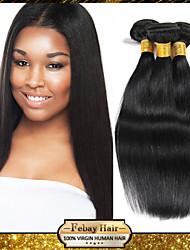 """non trattato colore nero capelli vergini indiani diritto naturale 3pcs 8 """"-30"""" 100g / bundle"""