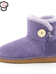 MO Twinface Sheepskin Autumn and Winter Snow Boots Warm Lady Shoes