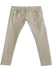 Women's Grey Long Basic Casual Pants