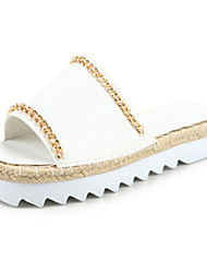 Women's Shoes   Flat Heel Open Toe Sandals Casual White/Silver