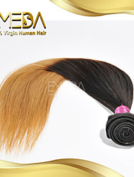 Good Cheap Eurasian Virgin Human Hair Silk Straight Ombre Hair Extensions 2 Tone 1B/27 Color 1PCS Only  8''-30''