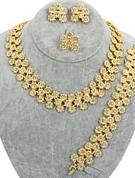 Westernrain 18K Gold Plated Chunky Fashion Jewelry ,African Costume jewelry set Necklace fashion Women