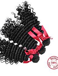 Evet malasio 3pcs la armadura del pelo humano 6a color natural del pelo virginal malasio que teje la extensión del pelo malasio suave