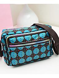 Women 's Nylon Messenger Shoulder Bag - Blue/Black