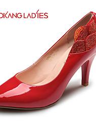 Zapatos de mujer Cuero Patentado Tacón Stiletto Tacones/Comfort/Puntiagudos/Punta Cerrada TaconesBoda/Exterior/Oficina y