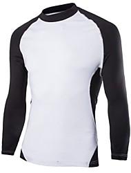 Katoenmix - Effen - Heren - T-shirt - Informeel/Sport - Lange mouw