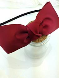 Solid Color Cloth Bow Headband