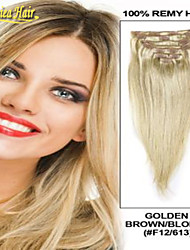 Cheap Clip In Human Hair Extensions Straight Indian Human Hair Any Color 100g set 7 Pieces 100% Remy Human Hair