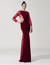 Dress Trumpet / Mermaid Scoop Floor-length Lace / Velvet with